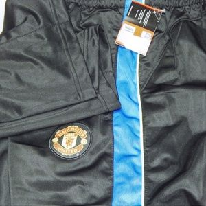 Manchester United sweat pants black Blue NWT M L